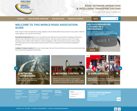 Website of Manual of Road Network Operations and Intelligent Transport Systems