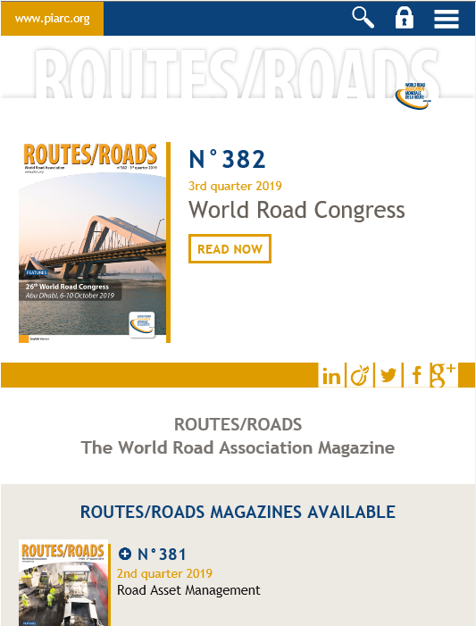 ROUTES/ROADS The PIARC magazine