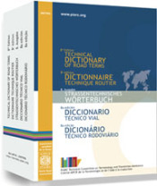 Le dictionnaire technique routier de l'Association mondiale de la Route au format papier