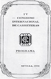 World Road Congress - Sevilla 1923 - World Road Association