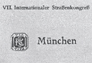 World Road Congress - Munich 1934 - World Road Association