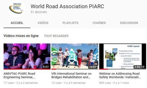 PIARC YouTube channel