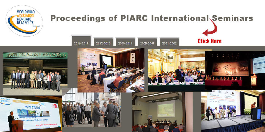 Find the proceedings of PIARC's International Seminars on www.piarc.org
