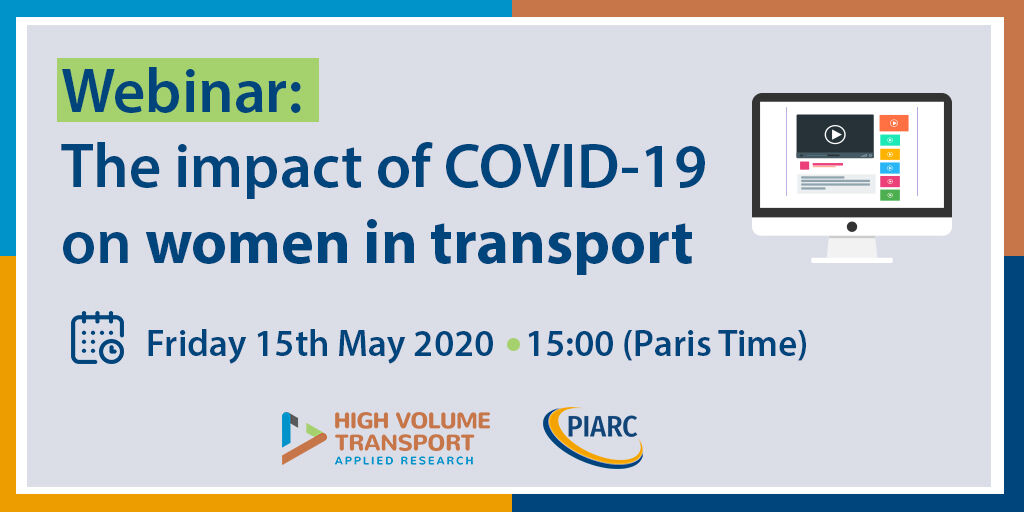 PIARC Webinar: The impact of COVID-19 on women in transport