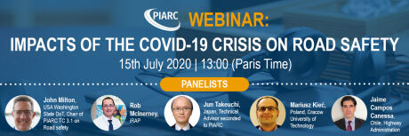 Join the next webinar in English about COVID-19 and roads!