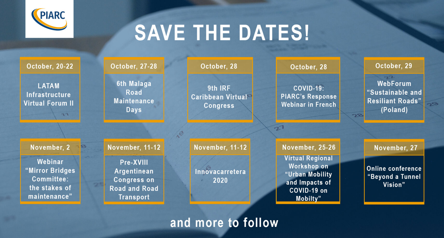 PIARC experts share their knowledge around the world: events in October and November!