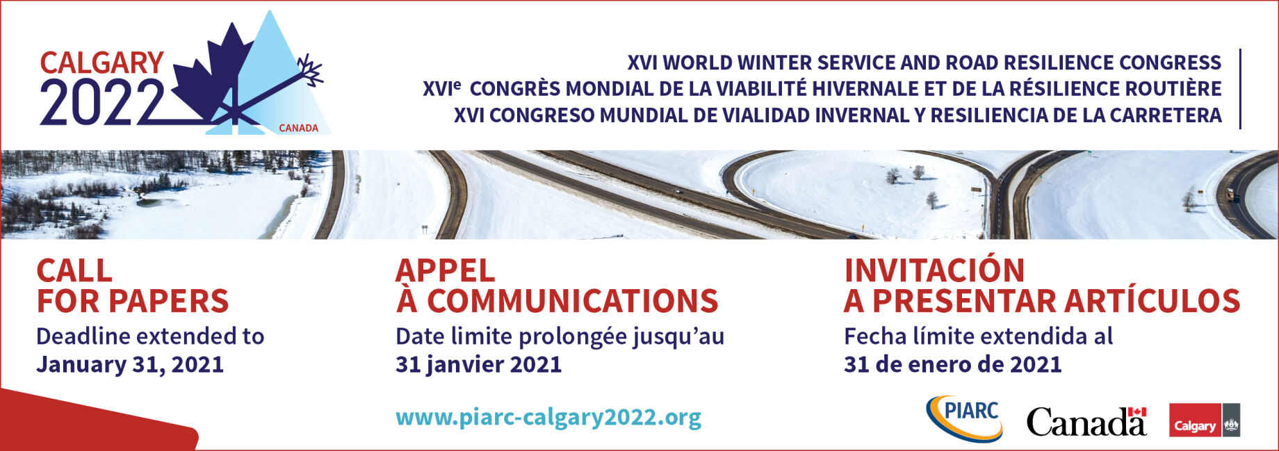 Are you an expert in winter service or road resilience? Deadline extended! Submit your abstract before January 31, 2021!