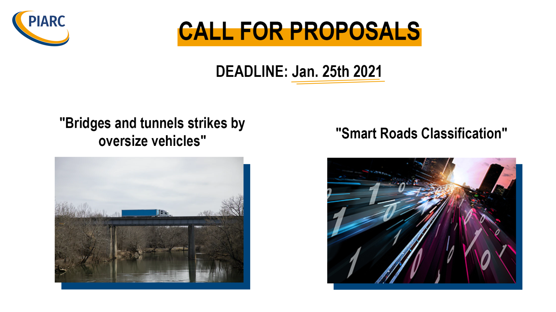 PIARC Special projects: Calls for proposals open!