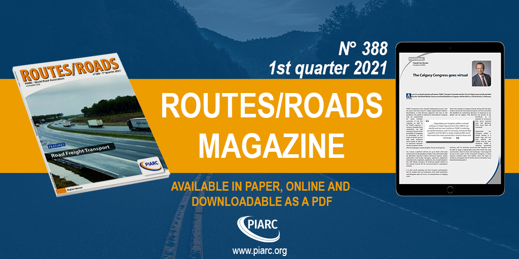 "Freight transport at the center of the latest issue of PIARC's ""Routes/Roads"""