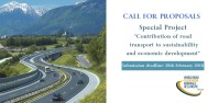 "Call for proposals open! Special project: ""Road transport's contribution to sustainable economic development"""