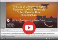 Visionnez le webinaire sur les systèmes aériens sans pilote (drones) organisé par FHWA et l'AIPCR!