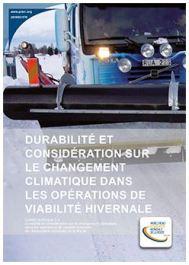 Durabilité et considération sur le changement climatique dans les opérations de viabilité hivernale