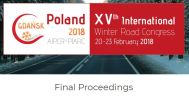 Find the final proceedings of the Gdansk 2018 International Winter Road Congress