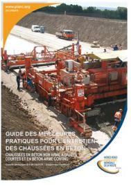 Le Guide des meilleures pratiques pour l'entretien des chaussées en béton de l'AIPCR disponible en turc